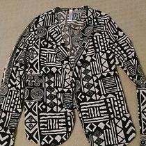 Pink Blush Maternity Blazer Top Black and Cream Aztec Pattern Size Medium  Photo