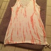 Pink Blush Maternity Coral/white Tie Dye Tank Top Size Small Awesome Top Photo