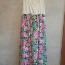 Pink Blush Maternity Dress Size L Pink Floral Pattern Maxi Photo