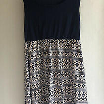 Pink Blush Maternity Dress Size Medium Navy Design Photo