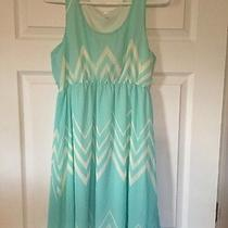 Pink Blush Maternity Dress Sleeveless Teal Size M Photo