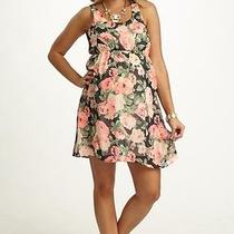 Pink Blush Maternity Floral Chiffon Dress Medium M Sleeveless  Photo