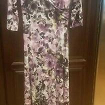 Pink Blush Maternity Maxi Dress Size Medium Purples Floral  Photo