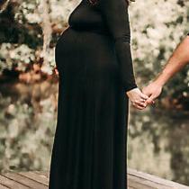 Pink Blush Maternity Off the Shoulder Dress Large Photo