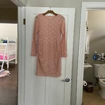 Pink Blush Maternity Pink Lace Dress M  Photo