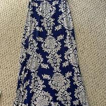 Pink Blush Maternity Skirt Xs/small Blue Floral Maxi Skirt Photo