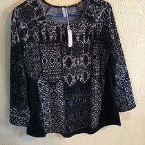Pink Blush Maternity Sweater Black/beige Pattern Size Small Photo