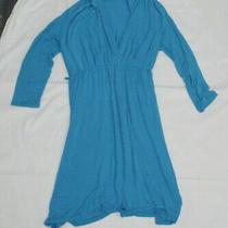 Pink Blush Maternity Tunic. Bright Blue. Large Photo