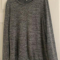 Pink Blush Maternity Womens Large Gray Sweater With Sequin Elbow Patches Photo