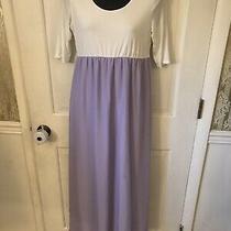 Pink Blush Maxi Maternity Dress Size Large Purple Photo