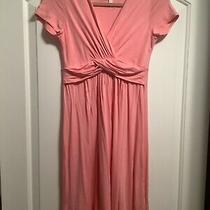 Pink Blush Pink Surplice Maternity Nursing Baby Shower Jersey Dress M Photo