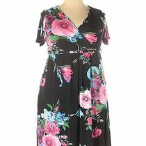 Pink Blush Women Black Casual Dress Xxl Photo