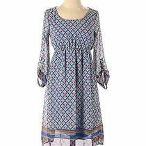 Pink Blush Women Blue Casual Dress S Photo