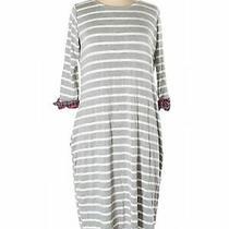 Pink Blush Women Gray Casual Dress L Photo