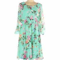 Pink Blush Women Green Casual Dress L Photo