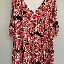 Pink Blush Womens Floral Maternity Dress Xl Size Multicolored 3/4 Sleeve Photo