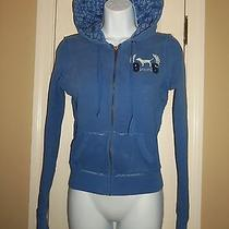 Pink by Victoria's Secret Blue Hoodie Size Xs / Extra Small