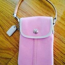 Pink Coach Cell Phone Wristlet Photo