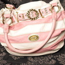 Pink & Cream Dolce & Gabbanna Hobo Handbag Purse Photo