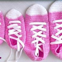 Pink  Crochet Converse Crochet Sox Crocet Home Shoes Photo