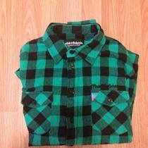 Pink Dolphin Flannel Sz M Supreme Aqua Photo