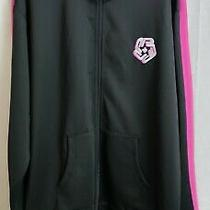 Pink Dolphin Mens Splash Coaches Jacket Black Size 2xl Zip Up Msrp 80 Nwt Photo