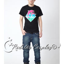 Pink Dolphin Waves Tee Shirt T-Shirt Heather Black Pink in Sizes Photo