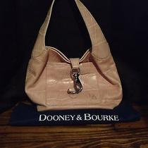 Pink Dooney and Bourke Lock Sac in Light Pink Croc Leather Hobo Photo