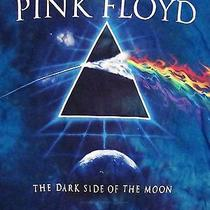 Pink Floyd Dark Side of the Moon Rainbow Prism Album Graphic Tie-Dye T Shirt S Photo