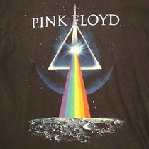 Pink Floyd the Dark Side of the Moon Album Prism Unique Artwork Black T Shirt Xl Photo