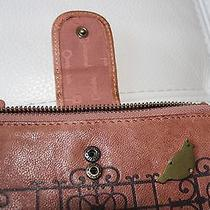 Pink Fossil Wallet With Bird Photo