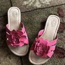 Pink Fuchsia Sandals Slides Flower Size 6 Womens Mules Flats Slip-on Johns St. Photo