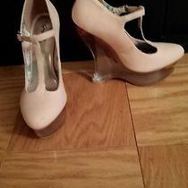 Pink Glass Wedge Heel Photo