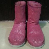 Pink Glitter Like New Ugg Boots  Photo