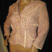 Pink Gray Acrylic Dress Jacket by Kay Unger Size 6 Photo