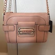 Pink Guess Cross Body Shoulder Bag Purse Chain Strap and Rose Gold  Safiya Nwt Photo