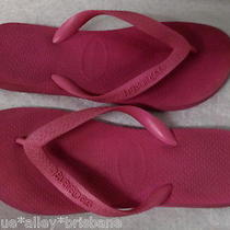 Pink Havaiana Thongs Flip Flops 39-40eur 41/2 Usa 7/8 Pre Loved Shows Use See Pi Photo