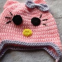 Pink Hello Kitty Hat for Infant Photo