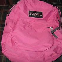Pink Jansport Backpack Book Bag Gently Used Photo