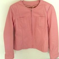 Pink Lamb Leather Blazer Photo