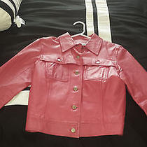 Pink Leather Jacket ( Wow ) Like New Condition Photo