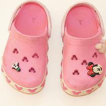 Pink Mickey Crocs 8 9 Guc Photo