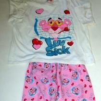 Pink Panther Luv Sick Women's Pajamas T-Shirtshorts Size Medium 1994 Vintage Photo