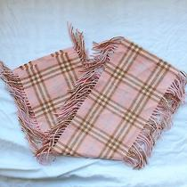 Pink Pastel Burberry Scarf With Fringes Photo