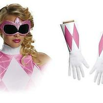 Pink Power Ranger Costume Accessory Kit Mask & Glove Set Disguise Deals Photo