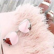 Pink Rose Gold Cateye Sunglasses Festival Marbs Kylie Ibiza  Free Case  B Photo