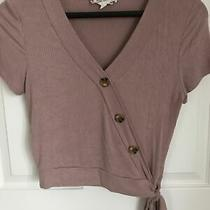 Pink Rose v Neck Blush Top - Size Small Photo