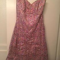 Pink Sequin Strapless Dress Photo
