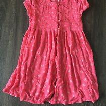 Pink Short Sleeve Floral Button-Up Blouse Christie Brooks Size M (5-6) Photo