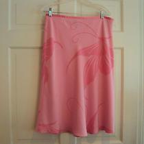 Pink Silk Skirt by Grace Elements - Butterfly Motif Size 14 Photo